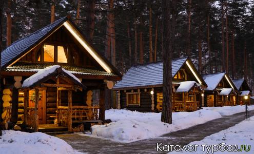 Дом Коттедж зимой