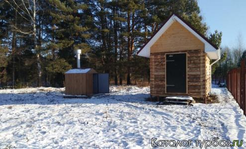 теплый дом с мангальной
