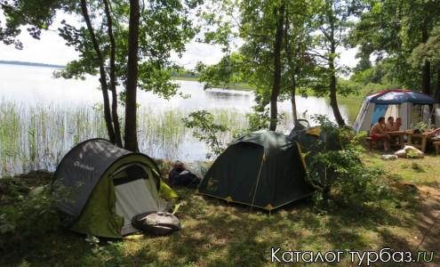 палаточное размещение отдыхающих