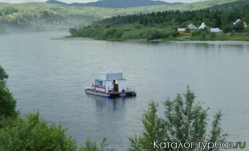 Прогулка и рыбалка на плоту по реке Кизир