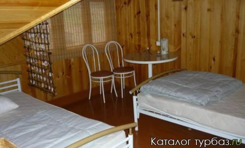 Мансардные двухместные комнаты с отдельно стоящими кроватями