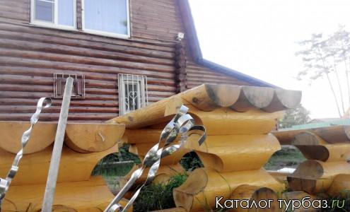 дом вид от мангала