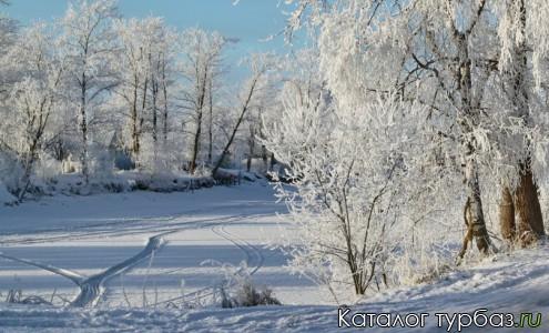 Деревня Медвежья Кара зимой