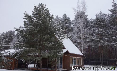 Русская баня зимой