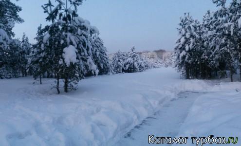 Панорама базы отдыха Лесное озеро