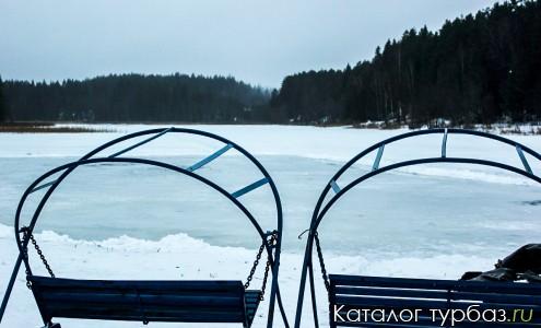 Озеро Малое Омчино-зима