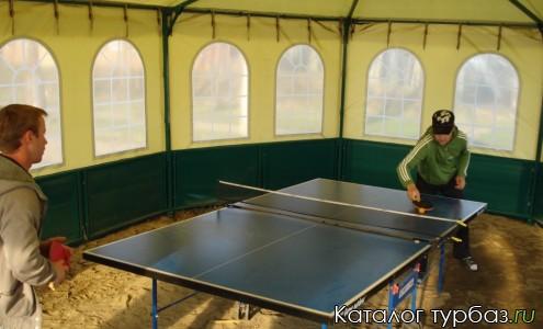 Крытая палатка для игры в теннис