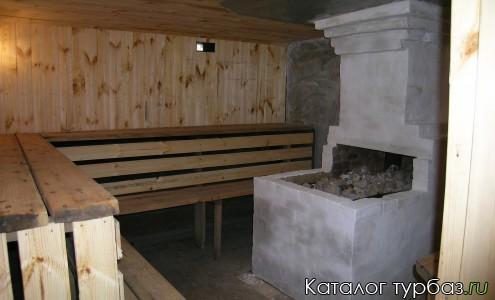 Помещение парилки в русской бане