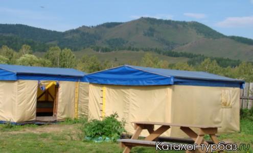 Кемпинговые палатки на Гостевом дворе Солнечный