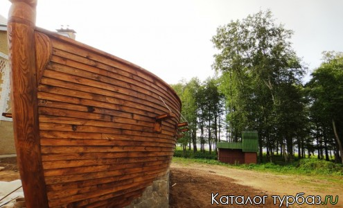 макет корабля - база отдыха Веснеболог - Пустошкинский район Псковской области