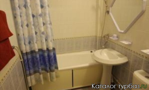 Ванная комната в гостинице 3***