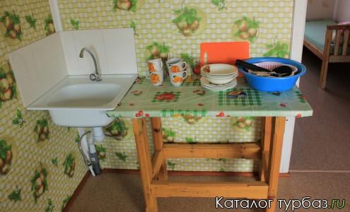 в кухне есть вся посуда, водоснабжение