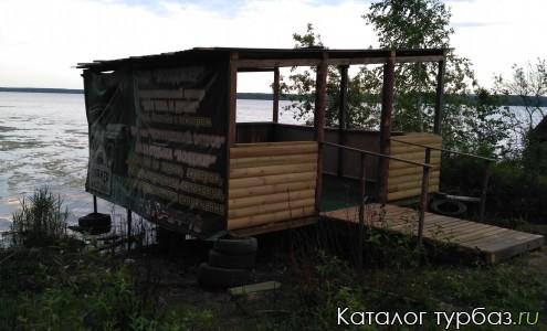 Беседка на 25 человек, на берегу Белоярского водохранилища